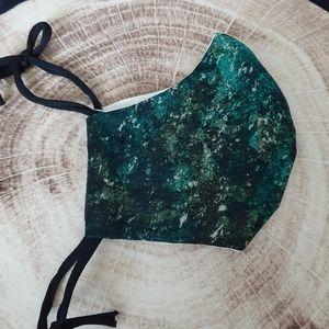 Handmade Cotton Moss Green Fitted Mask